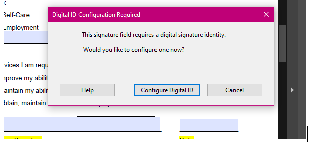 Image showing Configure ID popup